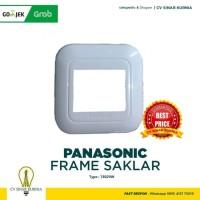 Saklar Panasonic Frame 1 Gang 2 Device WEJ 78029W Putih Wide Series