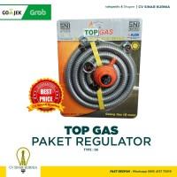 Paket Regulator TOP GAS Regulator + Meter + Selang SNI 06