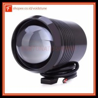 Promo Lampu Tembak Motor Led High Low Beam U2 1200 Lumens 30W - Black