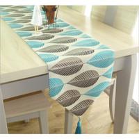 Elegant Nordic Table Runner Bordir / Taplak Meja Tamu Premium Timbul