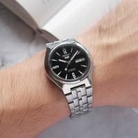 ORIGINAL SEIKO 5 AUTOMATIC black jam tangan pria asli antik not rolex