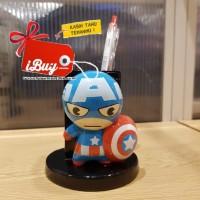 Miniso Cute Captain America Tempat Alat Tulis Pulpen Pensil Desk Organ