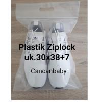 Plastik ziplock /klip uk 30x38+7 cm unt sepatu, tas, baju dll