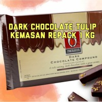Coklat Batangan Tulip 1 Kg Dark Chocolate / Coklat Blok / Compound