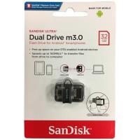 SANDISK 32GB BLACK OTG Ultra Dual Drive m3.0 Flashdisk USB 3.0 ORI