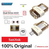 SANDISK 32GB GOLD OTG Ultra Dual Drive m3.0 Flashdisk USB 3.0 ORIGINAL