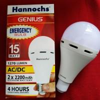 Lampu bohlam emergency led hannochs 15w 15wat 15watt