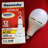 Bohlam lampu emergency led hannochs 12w 12wat 12watt