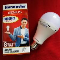 Lampu bohlam emergency led hannochs 8w 8wat 8watt