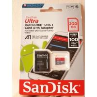 Memory Card MicroSD sandisk Ultra Class 10 A1 200gb garansi resmi