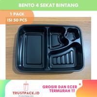 Mika Bento 4 Sekat/Tray Bento Sekat Bintang /Kotak Bento/Lunch Box/