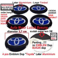 emblem wheel dop center roda as velg mobil toyota 5.7 cm aluminium 4bh