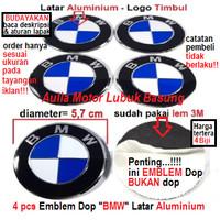 emblem wheel dop center roda as velg mobil bmw 5.7 cm latar aluminium