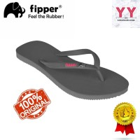 Sandal Fipper Glitter Grey Wanita Sandal Jepit Flipflop - 38