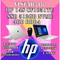 """HP 14s CF1051TU - N4205 SSD 512GB NVMe 4GB 14"""" INTEL UHD WIN10 + MOUSE"""