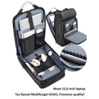 Tas Ransel Pria Multifungsi Tas Ransel Pria Backpack Pria USB (HUGO)
