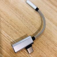 2 in 1 kabel data charger usb type c ke 3.5mm xiaomi huawei oneplus