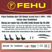 Paket bohlam plus LED Accord Gen 5 1994 - 1998 Warna sinar kombinasi