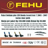 Paket bohlam plus LED Accord Gen 7 2003 - 2007 Warna sinar kombinasi