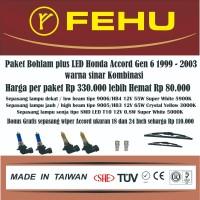Paket bohlam plus LED Accord Gen 6 1999 - 2003 Warna sinar kombinasi