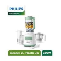 PHILIPS Blender 2 L HR2223 - HR 2223 Garansi Resmi Plastik - Hijau