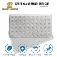 Keset Kamar Mandi PVC+Vacuum Anti Slip Tebal (High Quality)75X43CM