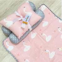 Set matras perlak bantal peang guling bayi babyland