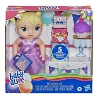 Boneka Baby Alive Party Present Baby Blonde Hair Doll Original