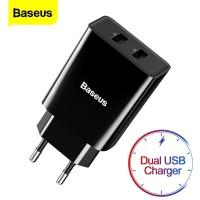 Baseus Original Speed Mini Dual U Adaptor Travel Charger High Quality