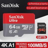 Sandisk Memory Card 64GB Kartu Memori Ultra Microsd SD Class 10 Ori