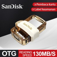 Sandisk Flahdisk Dual OTG 32/64GB USB Flash Drive 130M/S USB3.0 Gold - 32 gb