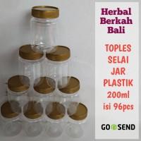 Botol Selai Plastik 200ml perbal Denpasar Bali [ Grosir ]