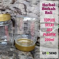 [ Ecer ] Botol Toples Jar Plastik Bulat Selai Bumbu 200ml Denpasar