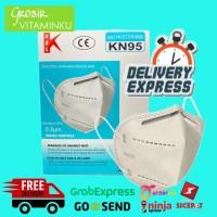 Masker KSL KN95 CV Black Polusi anti virus corona Kualitas = 3M