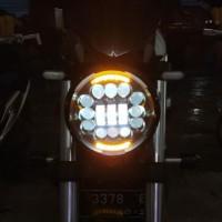 led daymaker vinyx 7 inchi 16 mata led+2 senja/sen