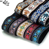 Electric Guitar Strap Embroidered Belt Adjustable Jacquard Band with
