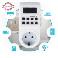 Digital EU Plug-In Programable Timer Timing On Off Switch Socket Ti TG