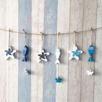 Kayu Promo!!! 1 Buah Dekorasi Gantung Bahari Ikan Bintang Laut