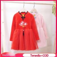 COD Ready Stock Baby Kids Girls Dresses Chinese New Year Tang Suit Ch