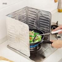 1Pc Plat Aluminium Foil Pelindung Percikan Minyak untuk Kompor Dapur