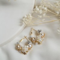 Axelle earing/statement earing/anting crystal/anting pesta/anting gold