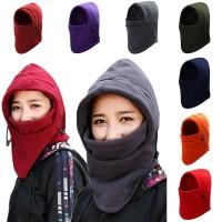 Sepeda/Ski Masker Syal Pelindung Wajah Bahan Fleece Tebal untuk
