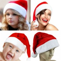 Kids & Adult Unisex Xmas Red Caps Santa Claus Novelty Hat for