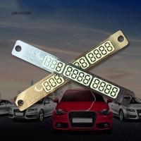 Plat Nomor Telepon Luminous dengan Suction Cup untuk Aksesoris Mobil