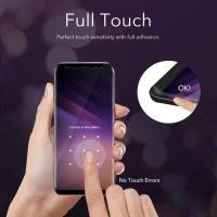 Pelindung Layar Tempered Glass Curved untuk Samsung S8 S9 S10 + Plus