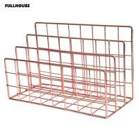 Fullhouse 3 Layers Iron Book Magazine Document Storage Shelf Stand