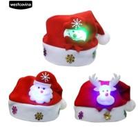 ❄Xmas Snowman Reindeer Santa Claus Natal Topi Anak Dewasa Gaun