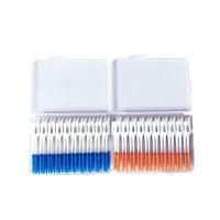 80Pcs / Kotak Tusuk Gigi Dental Floss Bahan Silikon Lembut