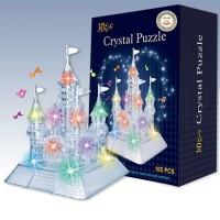 Puzzle Kristal 3D Transparan Bentuk Istana Mewah