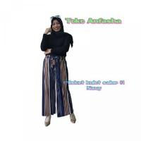 KULOT PLISKET SALUR 01 Celana panjang kulot wanita premium basic pants